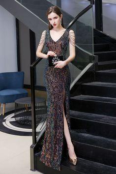 Sequin Evening Dresses, Evening Dresses Online, V Neck Prom Dresses, Long Evening Gowns, Mermaid Evening Dresses, Gala Dresses, Party Wear Dresses, Long Bridesmaid Dresses, Homecoming Dresses