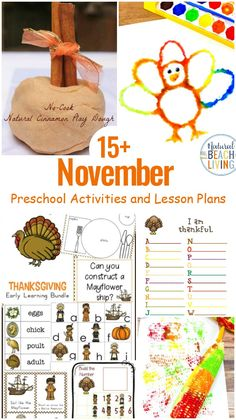 18+ November Preschool Themes with Lesson Plans and Activities - Natural Beach Living