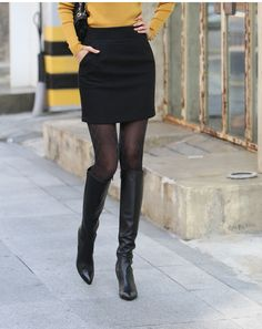 High Quality Fashion Skirts Womens Winter Skirt Mini Skirt Plus size Women Skirt Black Gray S - XXXL