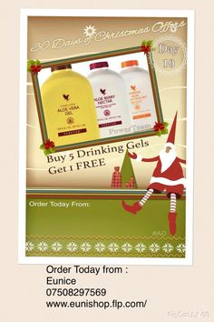🌲DAY 10 OF THE 30 DAYS OF CHRISTMAS OFFERS🌲 November Are you drinking Aloe Vera yet? If you already understand the cocktail nutrients aloe provides, you will love today's deal as part of the 30 days of Christmas! Christmas Fairy, Christmas Gifts, Christmas Ornaments, Christmas 2015, Forever Living Business, Christmas Offers, Forever Aloe, Look Good Feel Good, Forever Living Products
