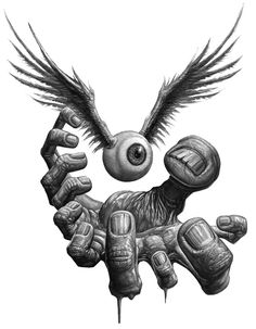 Art Bizarre, Creepy Art, Weird Art, Badass Drawings, Dark Art Drawings, Zombie Drawings, Fantasy Kunst, Fantasy Art, Art And Illustration
