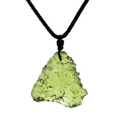 O-stone Natural Moldavite Czech Aerolite Pendant Necklace 4-5g Grounding Stone Protection Amulet O-stone. $49.00. Each piece of jewelry is exquisitely handcrafted and polished by our most skilled masters.. Together with the jewelry we present you delicate brocade box,exquisite brocade bag,spare string and crystal clean cloth.(The brocade bags of different colors will be picked randomly). We select the finest natural gem stone across the globe. The shape of each pr...