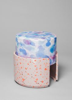 Never Too Much Stool 1 - Kueng Caputo - Salon 94 Terrazzo, Textures Patterns, Decoration, Color Inspiration, Designer, Furniture Design, Decorative Boxes, Pottery, Shapes