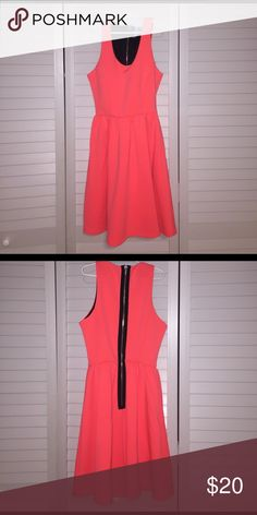 Neon dress Cute neon dress that really stands out! Super comfortable.worn once. L'Amour Dresses Mini