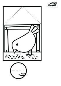 printables for kids - Paper Crafts 🧶 Cutting Activities, Quiet Time Activities, Paper Crafts For Kids, Diy For Kids, Diy And Crafts, Bird Crafts, Easter Crafts, Winter Kids, Summer Crafts