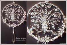 Suncatcher silver/white peacock by illustrisdesigns