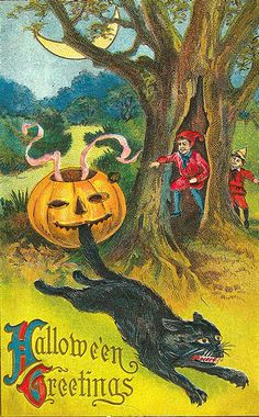 Free To use in your Art only, not for Sale on a Collage Sheet or a CD Vintage Holiday Postcards, Vintage Halloween Images, Vintage Halloween Decorations, Vintage Cards, Vintage Paper, Halloween Items, Halloween Boo, Happy Halloween, Halloween Greetings