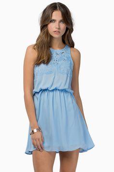 cute toni light blue dress