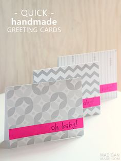 Quick Handmade Thank You Cards