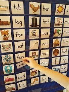 Dollar Deals for Your Classroom CVC Words Pocket Chart Sort Kindergarten Literacy, Literacy Activities, Literacy Centers, Learning Centers, Numbers Kindergarten, Activity Centers, Halloween Math, Cvc Words, Teaching Materials