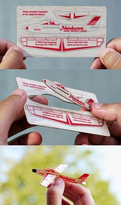 wood plane business card