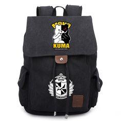 New Danganronpa Backpack Cosplay Monokuma Canvas School Bag Satchel Rucksack Unisex Leisure Shoulder Travel Bags Gift #Affiliate