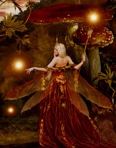 "The Fairy Paintings Art Gallery:The Celtic Faerie Art of Howard David Johnson featuring Fairy Paintings, Fairy Drawings & Digital Fairy Art ""The red fairy"" Fairy Dust, Fairy Land, Fairy Tales, Fantasy World, Fantasy Art, Fantasy Fairies, Fairy Paintings, Fairy Drawings, Kobold"