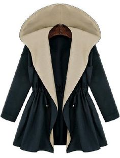 Shop Navy Hooded Long Sleeve Drawstring Coat online. Sheinside offers Navy Hooded Long Sleeve Drawstring Coat & more to fit your fashionable needs. Free Shipping Worldwide!