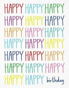 Happy Happy Birthday card by Happy Cactus Happy Birthday Wishes Quotes, Birthday Quotes For Him, Birthday Blessings, Birthday Wishes Cards, Happy Birthday Images, Happy Birthday Greetings, Happy Quotes, Happy Birthday For Her, Happy Birthday Posters