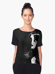 """Art Deco Woman"" Chiffon Fashion Blouse  by #Gravityx9 