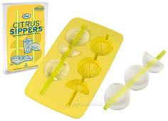citrus sippers ice cube tray. how fun!