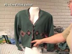 Londa Teaches how to Transform a Sweatshirt to a Fitted Jacket