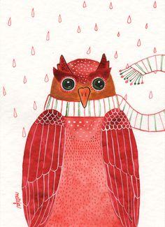 'Owl' by Mateja Lukezic