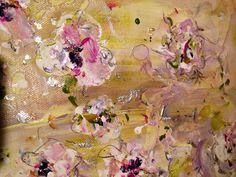 'Pansies' www.lizahathawaymatthews.com - small piece - 12 x 12 #available #art #interior #design