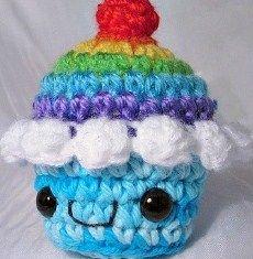 Cupcake Amigurumi - Patrón Gratis en Español aquí: http://de.slideshare.net/crochetingclub/patrn-cupcake-2-espaol?related=1