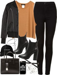 Outfit for autumn with black jeans by ferned...