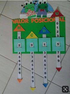 Place Value Sliders - Math Learning Aid Montessori Math, Preschool Math, Math Classroom, Classroom Decor, Educational Activities For Kids, Preschool Activities, Teaching Aids, Teaching Math, Math For Kids