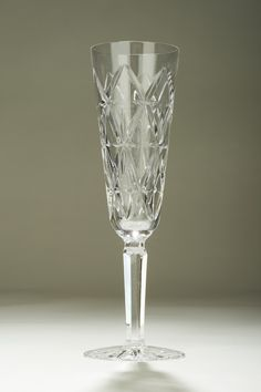Glasses to Drink in Style Tipperary Crystal Champagne Glass A crystal champagne glass in the Trellis pattern, designed by Sybil Connolly and manufactured by Tipperary Crystal in Ireland.
