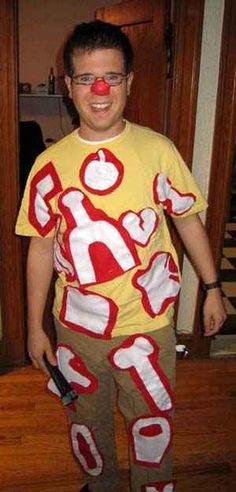 A little construction paper and elementary drawing skills go a long way in an Operation costume. | 31 Insanely Clever Last-Minute Halloween Costumes