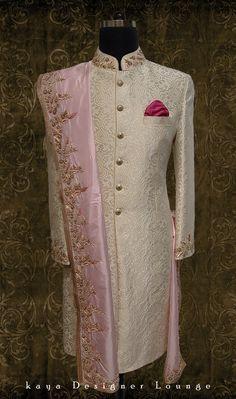 New Wedding Suits Men Indian Bride Groom Ideas - Wedding interests Sherwani For Men Wedding, Wedding Dresses Men Indian, Wedding Outfits For Groom, Groom Wedding Dress, Sherwani Groom, Bridal Outfits, Wedding Suits, Indian Western Dress, Indian Groom Dress