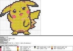 Pikachu XStitch Pattern 2 by aeiouna