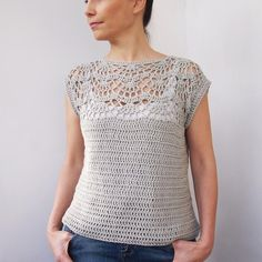 Pearl shell top Crochet pattern by Accessorise