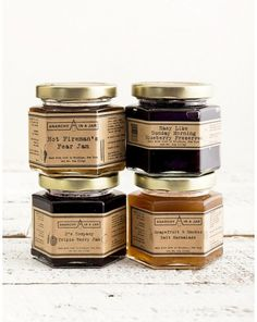 ANARCHY IN A JAR TRIO. Anarchy uses produce from small, local farms to concoct their exquisitely strange flavors of jams, preserves and an evolving line of condiments. We are happy to offer Grapefruit & Sea Salt Marmalade, 3's Company Triple Berry Jam and Easy Like Sunday Morning Blueberry Preserves. $21.00