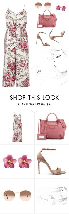 """Cute"" by ericjen8685 ❤ liked on Polyvore featuring River Island, Balenciaga, Yves Saint Laurent and Ray-Ban"