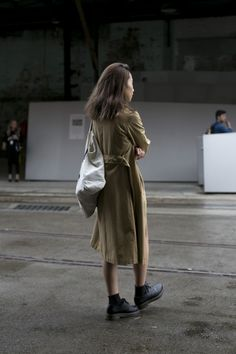 trench, tote and docs.