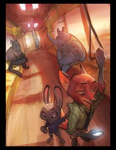 """monoflaxart: """"Oh boy. Seems like I neglected my online presence. Especially on tumblr. Well, have some chill morning vibes on the train to the ZPD. I am not doing much Zoot artwork anymore, but..."""