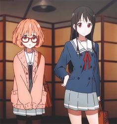 my gif gif anime Anime girl anime gif knk Kyoukai no Kanata mirai kuriyama mitsuki nase kuriyama mirai ooglyeyed nase mitsuki ohayocelestia Dandere Anime, Katana, Manhwa, Arte 8 Bits, Mirai Kuriyama, Beyond The Boundary, Anime Gifs, Cute Anime Coupes, Kyoto Animation
