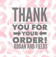 Thank you for trusting me to be your skincare consultant with R+F. Rodan and Fields has been a life changing experience for me, it can be for you as well. Contact me for more information.