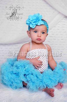 Newborn to Toddler Ocean Blue Turquoise Baby Pettiskirt PettiCoat