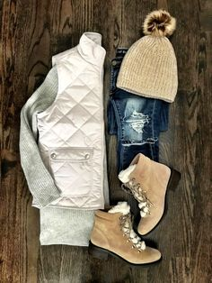 IG: @mrscasual | White puffer vest