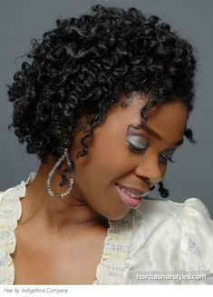Curly Hairstyles For Black Women | black medium curly hair style black hairstyles gallery