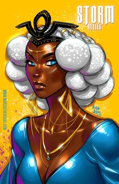 """Keeping the energy going with another of my Storm Styles pieces. When digital warmups and cooldowns have you uncovering beautiful hairstyles from historic African cultures. Black Love Art, Black Girl Art, Character Design Animation, Character Art, Black Panther Storm, A Level Art Sketchbook, Black Anime Characters, Marvel Characters, Black Comics"