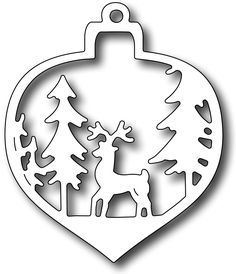 Frantic Stamper Precision Die - Deer Christmas Bauble-Frantic Stamper Precision Die - Deer Christmas Bauble Measures x Use alone or with the background die Christmas Deer, Christmas Baubles, Christmas Crafts, Christmas Decorations, Xmas, Christmas Candle, Wood Crafts, Diy And Crafts, Paper Crafts