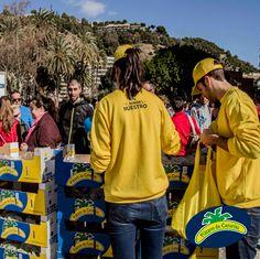 Repartimos bolsas para que todo el mundo pudiese llevar nuestros plátanos y disfrutarlos en cualquier momento :-)