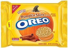 Nabisco Oreo Cookies Pumpkin Spice Creme 12.2 Oz Limited Edition #Oreo Oh my~these are so so yummy!