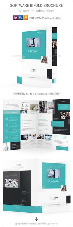Tutoring Center Print Bundle Modern prints, Study and Photoshop - half fold brochure template