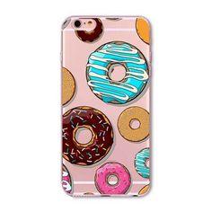 Rainbow Color Food, Donuts, Ice Cream, Cupcake Macaron Phone Cases For iphone 6 6S 5 5S SE 5C 6Plus 6SPlus 4 4S Silicone Case Cover For iphone 6 Case
