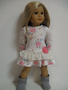 American Girl Doll Clothes -Feminine Floral