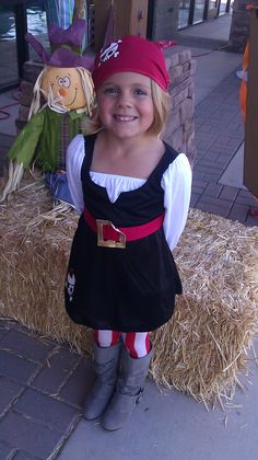 Hoop Hangout - Halloween - Little Girl Costume - Pirate Costume