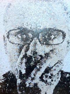 Portrait de pixels par Ced Vernay au New Hotel of Marseille